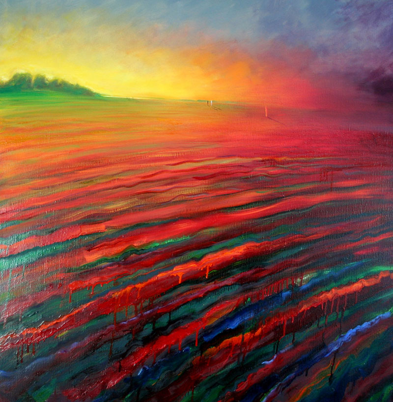 luxuo-id-glowing-woman-in-red-landscape